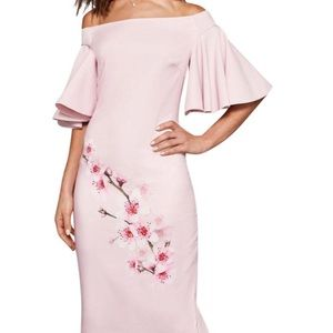 Ted Baker, with tags. Size 3 pink off the shoulder